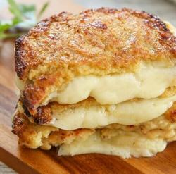 1. Cauliflower Crusted Grilled Cheese Sandwiches - 5 Low Carb Keto Grilling Recipes