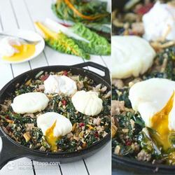 1. Low-Carb Rainbow Chard & Sausage Hash - 10 Easy Ketogenic Meals and Recipes