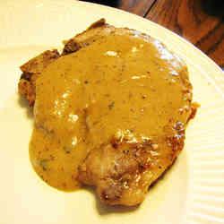 1. Pork Chops in Mustard Sauce - TOP 16 DASH Diet Recipes