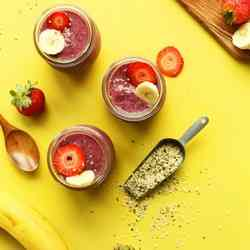 10. Banana Hempseed Berry Pudding - 10 Favorite Fruit Recipes for Weight Loss