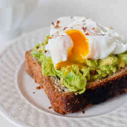 16. Poached Eggs on Avocado Toast - TOP 16 DASH Diet Recipes