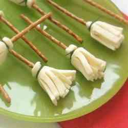 2. Cheese Witch Brooms - 10 Spooky Recipes For Healthy Halloween Treats