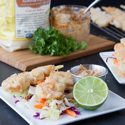 3. Breaded Shrimp Salad with Chipotle Mayo - 10 Easy Ketogenic Meals and Recipes