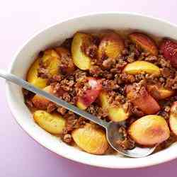 3. Healthy Peach Betty - 10 Favorite Fruit Recipes for Weight Loss