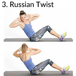 3. Russian Twist - 8 Exercises to Kill A Muffin Top