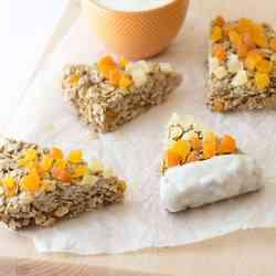 4. Candy Corn Granola Bars - 10 Spooky Recipes For Healthy Halloween Treats