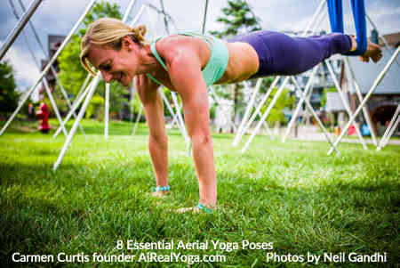 4. Plank with the Feet in the Hammock - Aerial Yoga Is It Right For You