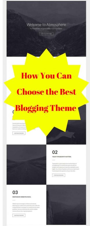 Choosing the Best Blogging Theme For You