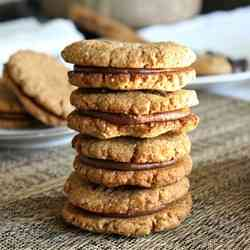 5. Chewey Choclate Almond Butter Sandwich Cookies - 10 Quick and Easy Paleo Dishes