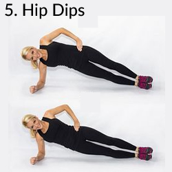5. Hip Dips - 8 Exercises to Kill A Muffin Top