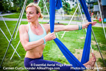 6. Pike and Pull with the Foot in the Hammock - Aerial Yoga Is It Right For You