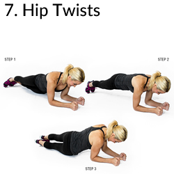7. Hip Twists - 8 Exercises to Kill A Muffin Top