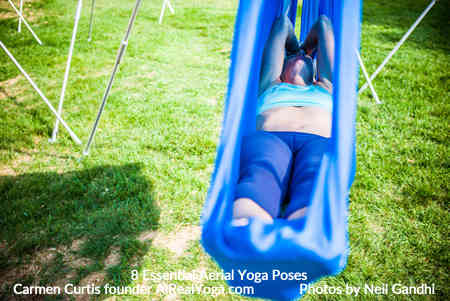 8. Floating Savasana with Assisted Foot and Back Massage - Aerial Yoga Is It Right For You