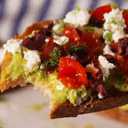 8. Greek Avocado Toast - 9 of My Favorite Healthy Breakfast Recipes