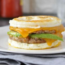9. Keto McMuffin Sausage & Egg Breakfast Sandwich - 10 Easy Ketogenic Meals and Recipes