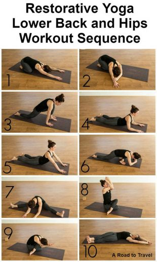 Restorative Yoga Workout Sequence