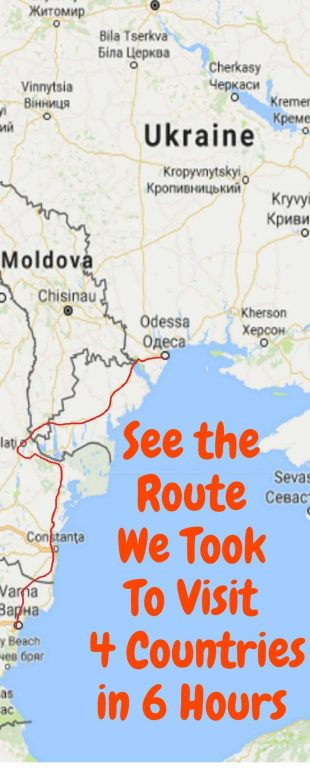 See the Route We Took To Visit 4 Countries in 6 Hours