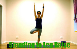 Standing to Leg Raise - Power Yoga Poses for Weight Loss