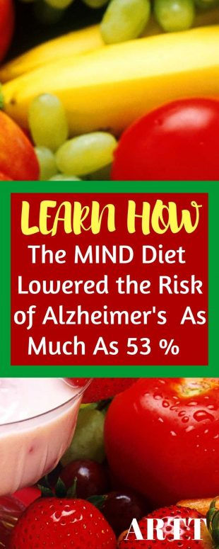 The MIND diet has lowered the risk of Alzheimers