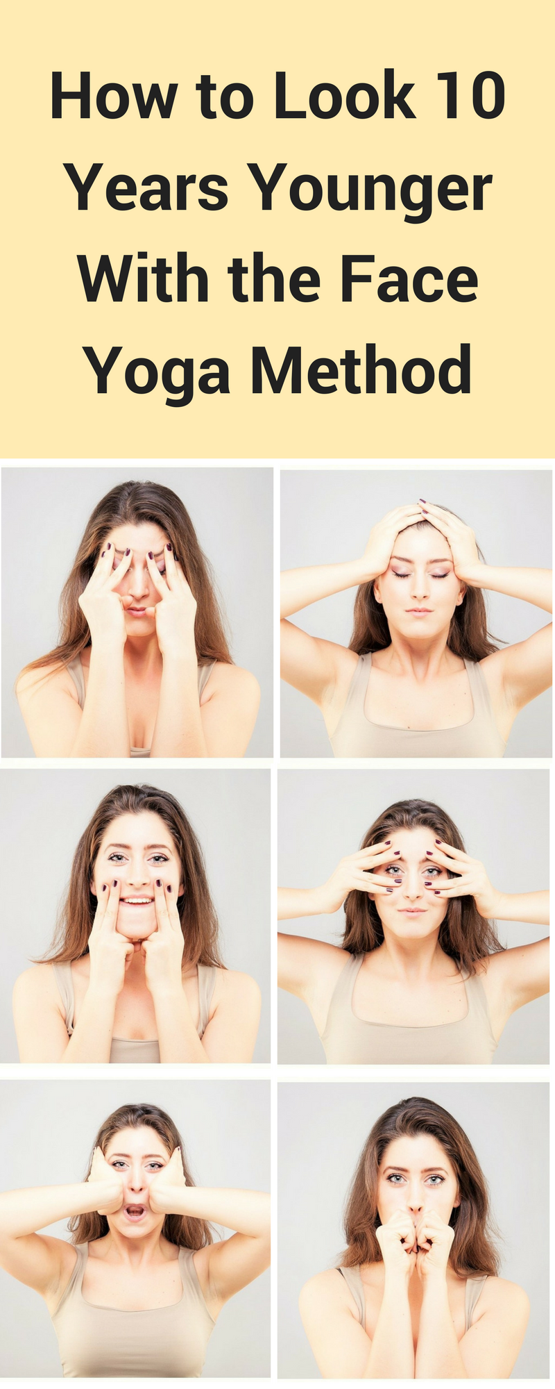 How to Look 10 Years Younger Using Face Yoga - A Few Moments of Making Silly Faces Gives You Longer Lasting Beauty #yoga #yogaworkout #face #faceyoga #antiaging | Face Yoga | Face Yoga Method | Face Yoga Exercises | Face Yoga Anti Aging | Face Yoga Anti Aging Facial Exercises | Yoga | yoga | yoga for beginners | yoga poses | yoga inspiration | yoga face | yoga face anti aging | yoga face exercises anti-aging | yoga face exercises