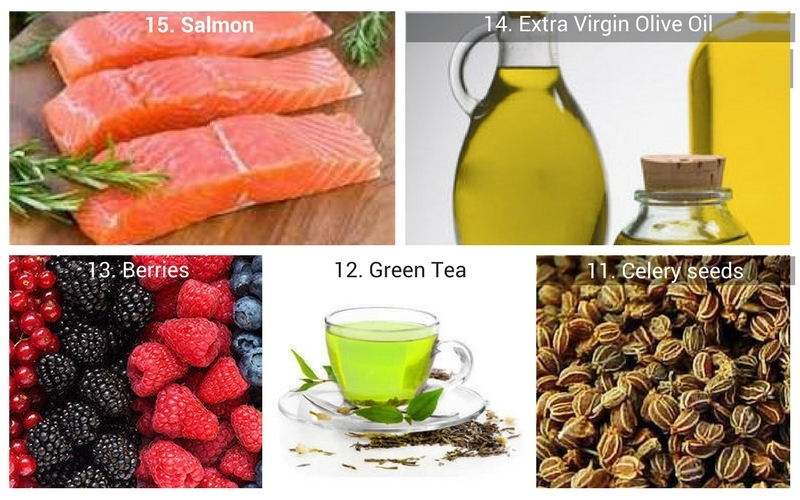 15. Salmon to 11. Celery seeds - 15 Natural Foods to Fight Inflammation
